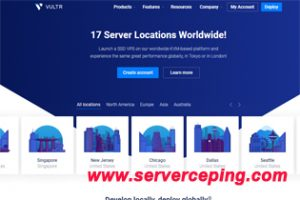 Vultr免费云服务器|新用户注册送103美金信用值