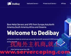 Dedibay-特惠美国站群服务器|1c ip、4c ip、8c ip、16c ip等美国多IP服务器